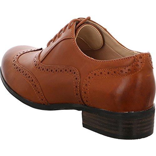 Clarks Hamble Oak Damen Brogue Schnürhalbschuhe braun mode