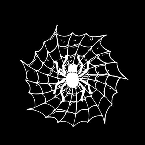 13,4 CM Cartoon Spinne Insekt Halloween Decor Auto Aufkleber Silhouette Zubehör Vinyl 2 Stück ()