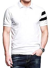 LionRoar Men's White Collar Premium Polo T Shirts Half Sleeve Tshirts For Men
