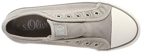 s.Oliver 24635, Sneakers Basses Femme Gris (Lt Grey)