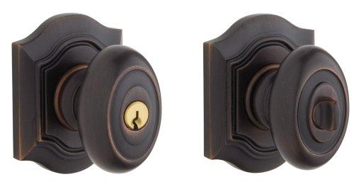 Baldwin 5237.112.ENTR Bethpage Knob Keyed Entry Set, Venetian Bronze by Baldwin - Bronze Keyed Baldwin Hardware