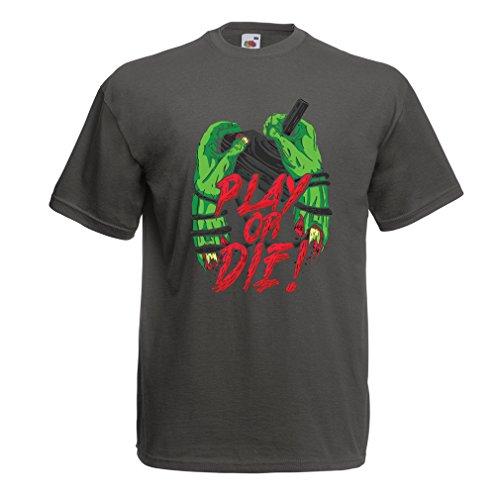 Männer T-Shirt Spielen oder sterben - nur für Spieler! Grün Mehrfarben