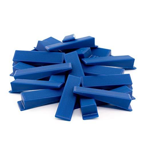 Lantelme Montagekeile 50 Stück Set Kunststoff Bau Fenster Montage Keile Farbe Blau 5679