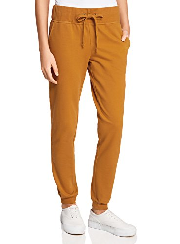oodji Ultra Damen Jersey-Jogginghose, Orange, DE 42 / EU 44 / XL