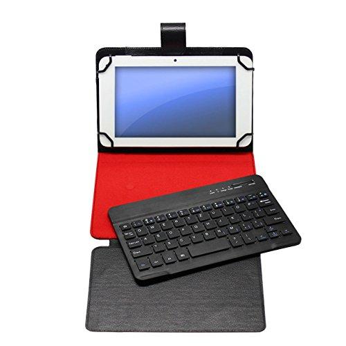 handy-point hochwertige 3.0 Bluetooth 10.1 Zoll QWERTZ Tastatur aus Aluminium für Android, Tasche, Schutzhülle, Hülle abnehmbar (Umlaute eingeschränkt möglich, s. Beschreibung unten)