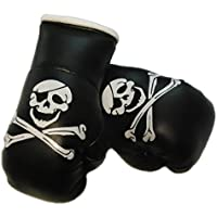 Mini Guantes de boxeo Calavera//pirata calavera, 1par (2pieza) Mini guantes de boxeo por ejemplo para Auto de espejo interior