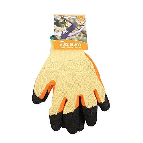 JVL Paar Latex Tuff Spitze Arbeit Garten-Handschuhe-Gr. 10/L, Orange - Gr Garten