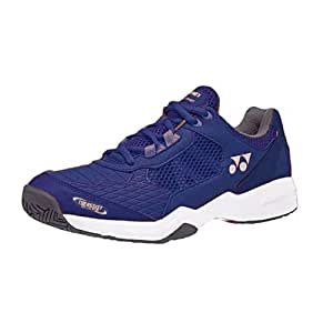 Yonex 2019 Sepatu Tennis Shoes for Men | Power Cushion Lumio Shtluex |Best for Lawn, Court Or Hard Top Play, Navy Blue 6UK
