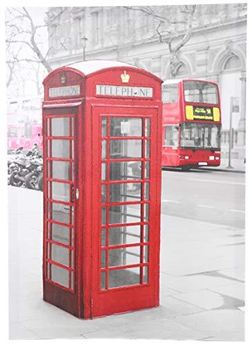 70 x 50 cm Kronleuchter Malerei zeigt eine Londoner Szene mit einer Telefonzelle - Home Decorations