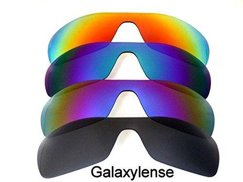 Galaxis Ersatzgläser für Oakley Antix schwarz & lila & blau & rot Farbe Polorized,GRATIS S&H.4 Paar - schwarz & lila & blau & rot