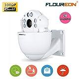 FLOUREON 1080P Videocamera Telecamera Camera Sorveglianza Sicurezza 4.9-49mm 10X ZOOMCCTV IR-CUT PTZ Dome IP Camera