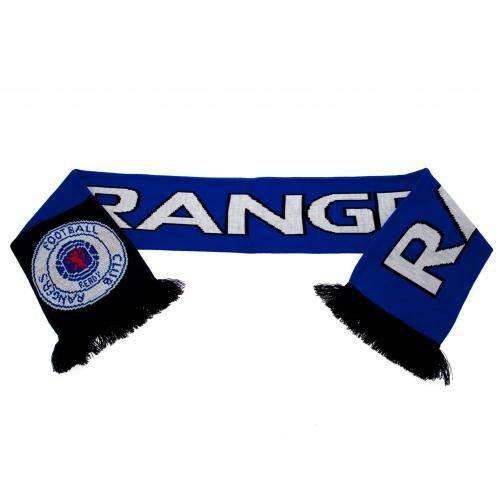 Rangers FC Oficial Negro Hecho a camiseta fútbol escudo Tifosi bufanda