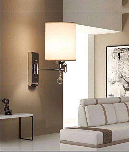 Moderne Simple lampe en cristal Chambre Lampe Lampe de chevet Creative américaine Étude Salon Balcon Escalier Lampes