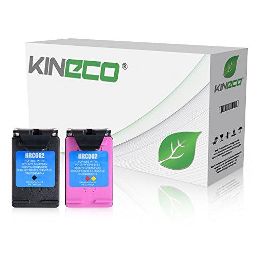 Preisvergleich Produktbild 2 Kineco Tintenpatronen kompatibel zu HP 62 XL Schwarz und Farbig - Mit Füllstandsanzeige