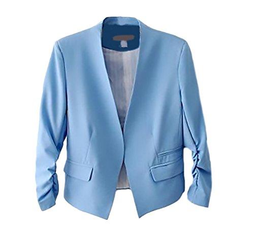 00f15250c091 HX fashion Tailleur Donna Elegante Primaverili Manica Lunga Slim Fit Ufficio  Business Chic Unique Blazer Giacca ...