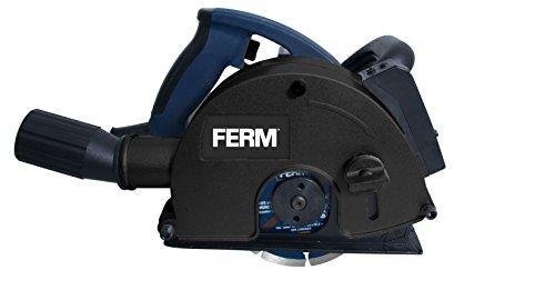 FERM WSM1009 Rainureuse 1700W 125mm - Laser - Incl. 2 lames diamant et adaptateur d'aspirateur