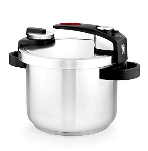 BRA Tekna - Olla a presión rápida 6 litros, acero Inoxidable, apta para todo tipo de cocinas, incluido...