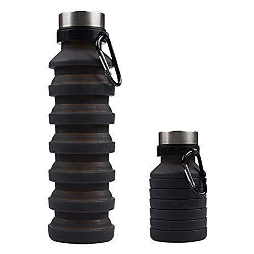 Alta capacità non tossica riutilizzabile dell'Non tossico Bottiglia d'acqua |550ML bottiglia d'acqua Conveniente |250ML se piatto |Silicio senza BPA |La migliore piccola borraccia for viaggi, Equitazi
