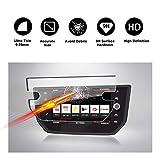 RUIYA Gehärtetem Glas Displayschutzfolie für 2017 2018 Seat Ibiza Seat Media System Plus Navigations System, Unsichtbare und Transparente Film, Crystal Clear HD Displayschutz, Anti-Kratz[8 Zoll]