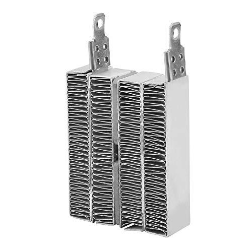 Keenso Ripple PTC Heizung 12V / 24V Aluminiumgehäuse Konstante Temperatur PTC Welligkeit Heizplatte Thermistoren Heizelement AC DC Ohne Leitung(12V/70W) -