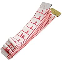 Water & Wood 1.5m Red White Soft Plastic Sewing Tailor Measure Tape