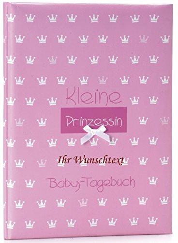 Goldbuch Babytagebuch Kronen mit Ihrer Wunschbeschriftung (Rosa)