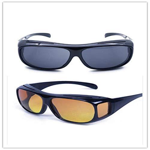HD Wrap Around Polarisiertes Nachtsichtgerät für über Nacht fahrende Brillen Erhellen Sie Ihren visuellen UV-Schutz von 100% für Frauen und Männer