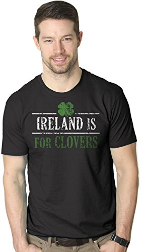 Patricks Day Irish T-shirts (Crazy Dog Tshirts Mens Ireland is For Clovers Lucky Irish St Patricks Day Drinking T Shirt (Black) 5XL - Herren - 5XL)