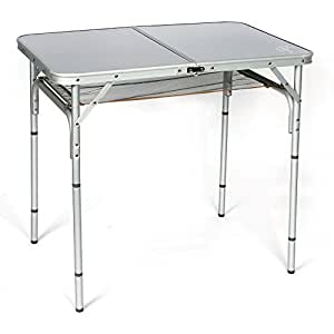 aluminium campingtisch mit abn tischbeine 90 x 60 cm sport freizeit. Black Bedroom Furniture Sets. Home Design Ideas