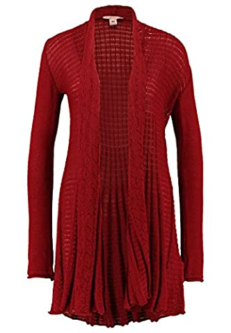 Anna Field Strick-Cardigan Damen Rot Strickjacke,
