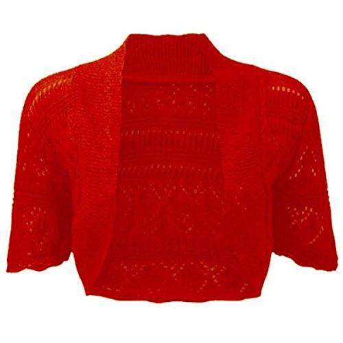 New Ladies Bolero Shrug Crochet Knitted Cardigan Women's Top Short Sleeve Cardi Cheap.