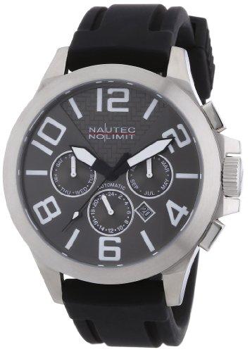Nautec No Limit - Reloj analógico para caballero de caucho marrón