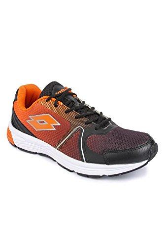 Lotto Men's Ventura 2.0 Blk/Orange Running Shoes - 10 UK/India (44 EU)(F6R4616-081)