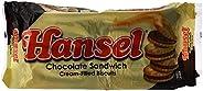 ساندويتش بسكويت محشو بكريمة الشوكولاتة من هانسيل، 10 × 32 غرام - عبوة من قطعة واحدة