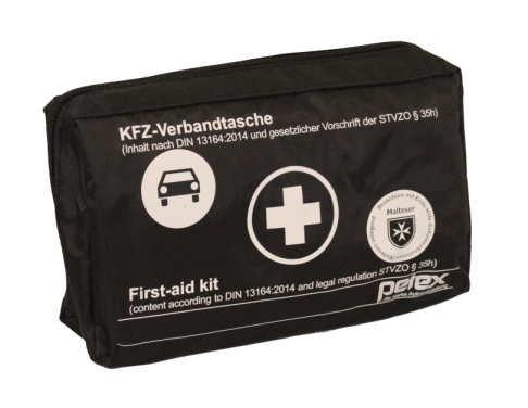 Preisvergleich Produktbild KFZ-Verbandtasche Schwarz DIN 13164-2014