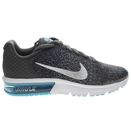 Nike Air Max Sequent 2 Gs, Scarpe da Ginnastica Bambino Grigio (Dark Grey/Metallic Silver/Black/Stealth)