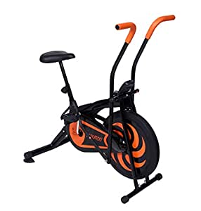 Cockatoo Imported Air Bike Multifunction Function/Exercise Bike (Cycle & Cross Trainer) (Orange)