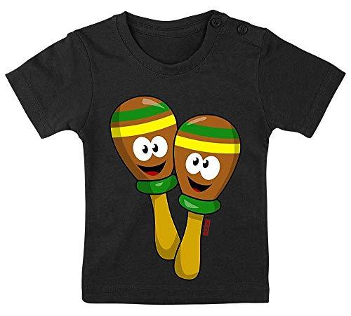 Rocker Kostüm Männlich - HARIZ Baby T-Shirt Rassel Lachend Instrument Kind Witizg Plus Geschenkkarten Pinguin Schwarz 15-24 Monate / 80-92cm