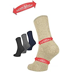 mosermed Extremadamente dehnbare Calcetines hasta 66cm tobillo del Envío–En Tobillos hinchados, Yeso, diabéticos Calcetines