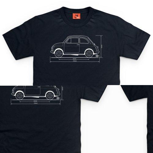 PistonHeads Cinquecento City Car T-Shirt, Herren Schwarz