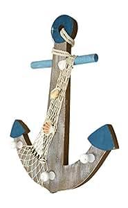 Bois et corde de fixation mural avec crochets