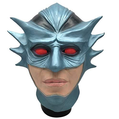 Aquaman Für Kostüm Erwachsene - DingLong Aquaman Maske - Halloween Karneval Comical Maske Maskerade Maske Tier Cosplay Kostüm Latex Maske