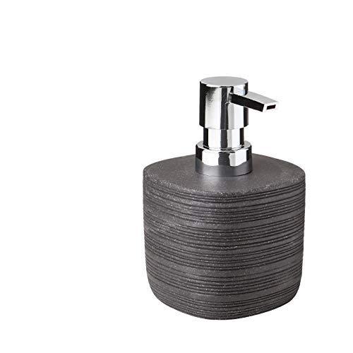 Tatay Bambu–Dispensador de jabón líquido, poliresina, Negro, 8,9x 8,9x 12,9cm