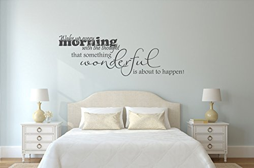 Wandtattoo Schlafzimmer Wake up every Morning Nr 3 Wanddeko Schlafzimmer Ideen Dekoartikel Wohnideen Wandsticker Wandaufkleber Größe 120x39, Farbe Schwarz
