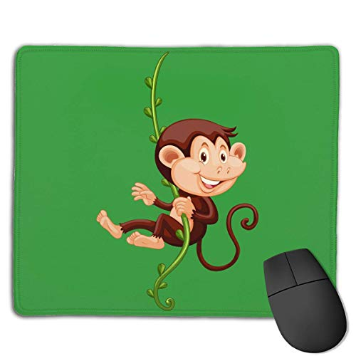 Preisvergleich Produktbild Mouse Pad Naughty Monkey Funny Logo Rectangle Rubber Mousepad 8.66 X 7.09 Inch Gaming Mouse Pad with Black Lock Edge