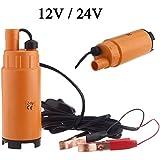 preadvisor (TM) 12V/24V DC Mini Combustible Diesel Bomba de transferencia de combustible diesel sumergible de Bomba de transferencia de aceite de agua de plástico Interruptor de encendido/apagado para el coche Van