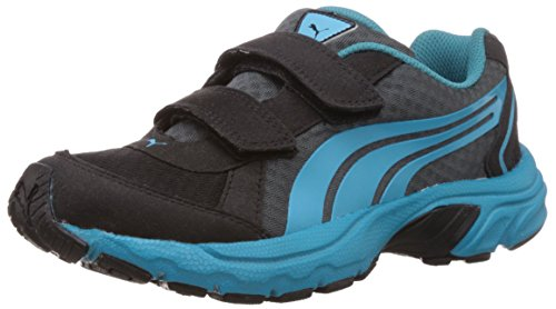 Puma Boy's Axis Velcro Jr DP Black-Turbulence-Blue-Breeze Boat Shoes - 11C UK  available at amazon for Rs.1400
