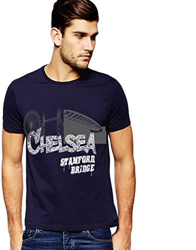 642 Stitches Chelsea Stamford Bridge T-Shirt  available at amazon for Rs.499