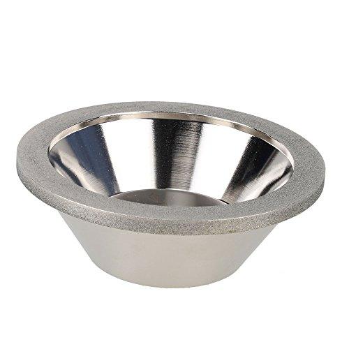 Yibuy 150Körnung 100mm Außen Dia 20mm ID Bowl Form Diamant CBN-Schleifscheibe
