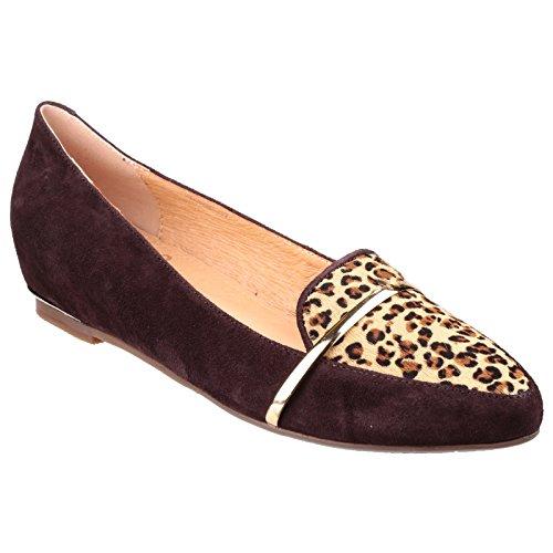 Riva Taranto Suede Slip à faible talon chaussures dames Brown / Leopard